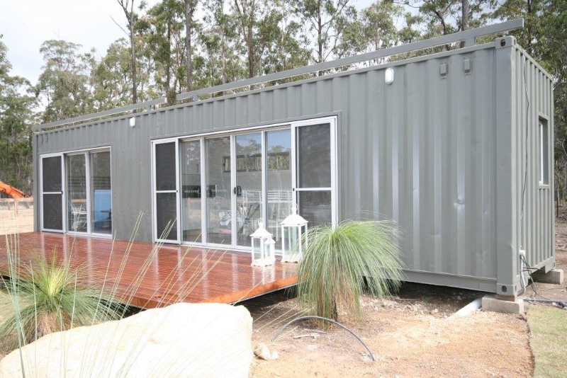 Granny cabin 40ft container cabins for Self contained cabin