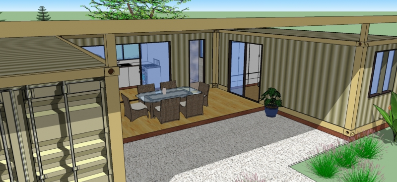 Two Bedroom Modular Container Cabins